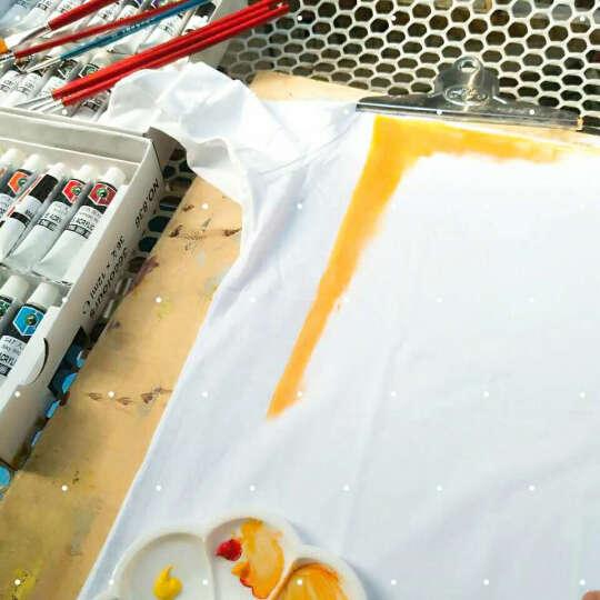 短袖t恤男圆领纯棉白色体恤纯色社会小伙潮T恤 6885圆领深灰 XL 晒单图