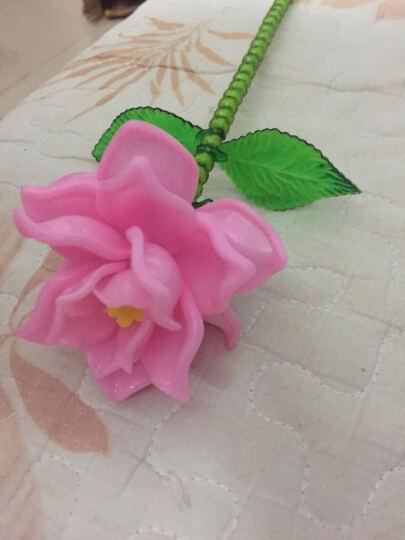 DIY手工串珠玫瑰花材料包情人节礼物荷花莲花女朋友摆件家居饰品 紫色 晒单图