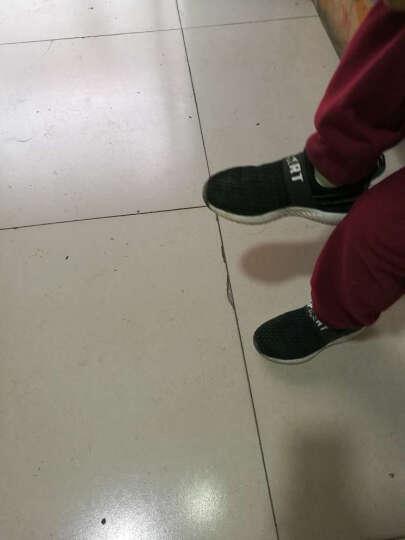 童鞋 男童运动鞋 2017新款儿童户外休闲鞋中大童篮球鞋女童跑步鞋 宝蓝红802(皮面) 40码(内长约25.4CM) 晒单图