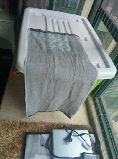 洁丽雅(Grace)毛巾家纺 复古铜钱系列纯棉强吸水毛巾 两条装 兰 115g/条 34*76cm 晒单图