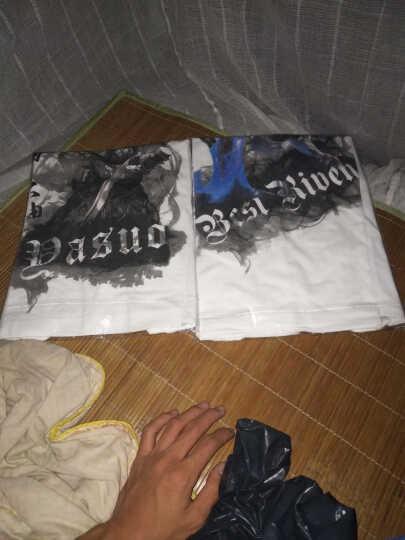男士T恤弹性棉英雄游戏白色短袖t恤青少年学生3D联盟lol卡牌亚索劫瑞文盲僧刀锋大码衣服 白短袖主播德莱文 165/S 晒单图