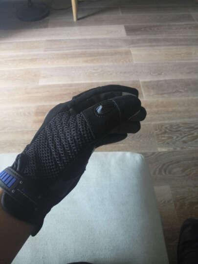 SCOYCO赛羽 摩托车越野车赛车碳纤手套 摩旅骑行手套 夏季清凉透气防护手套 MC20 黑色 XL 晒单图