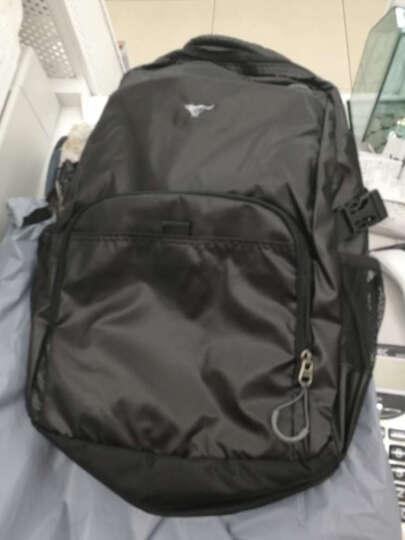 七匹狼(SEPTWOLVES)双肩包三件套装 14英寸休闲运动书包+头层牛皮横款钱包+自动扣休闲腰带 L9493 晒单图