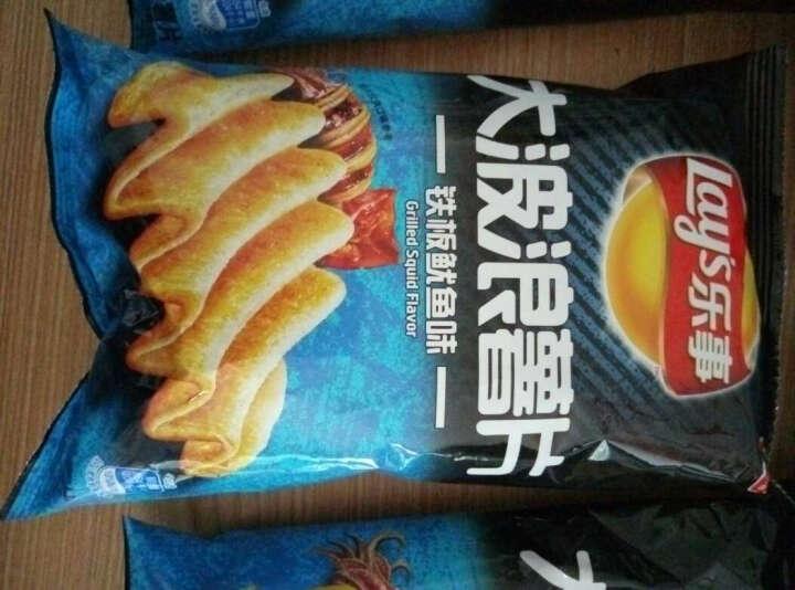 乐事(Lay's)休闲零食 大波浪薯片 铁板鱿鱼味 40g 晒单图