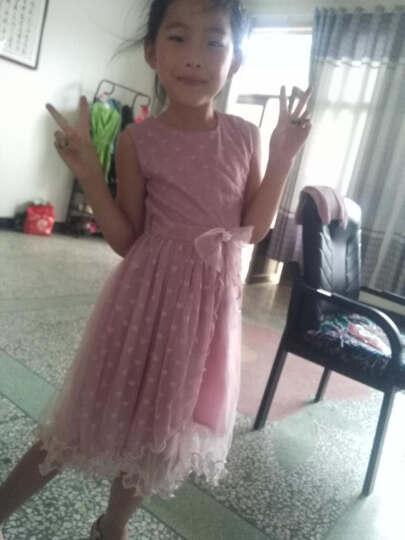 圣笑 童装女童夏装新款公主裙子2018新款中大儿童连衣裙长裙子演出表演服 爱心公主裙粉紫色 140 晒单图