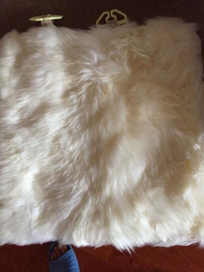 雷象ELEKKS 羊毛坐垫 中长毛座垫 冬季汽车坐垫 车家两用 45×45cm (珍珠白) 晒单图