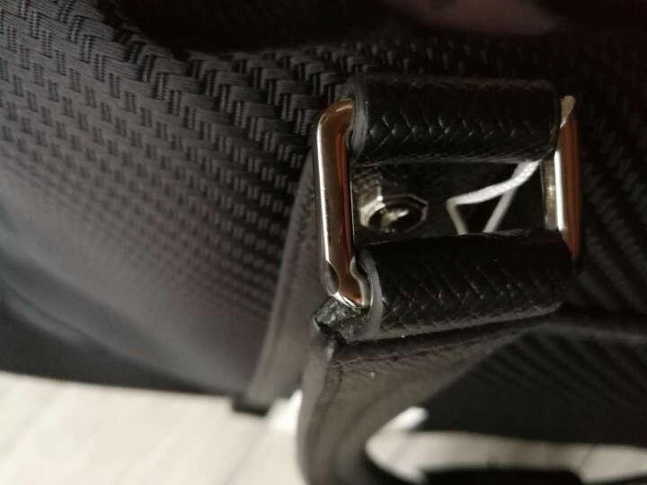 派保爵pabojoe旅行包男女通用大容量手提包席纹防水帆布手提行李包袋男包59001 黑色 晒单图