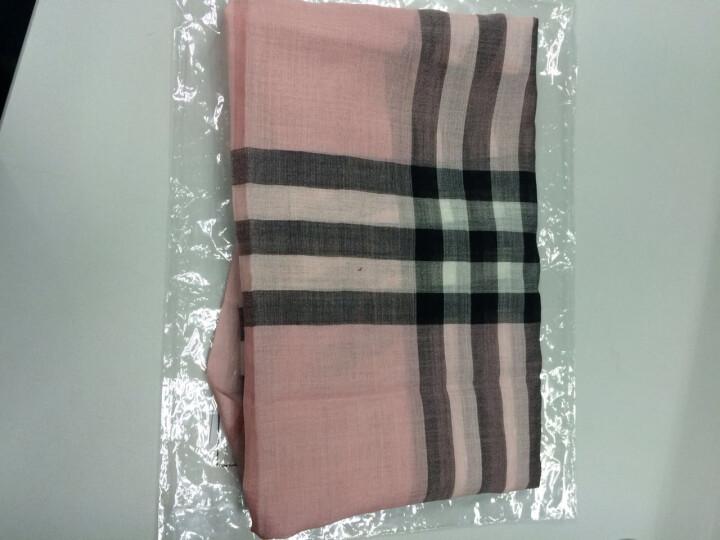 BURBERRY巴宝莉女士经典格子格纹流苏羊绒围巾丝巾4032917 4001363粉色(顺丰闪电发货) 晒单图