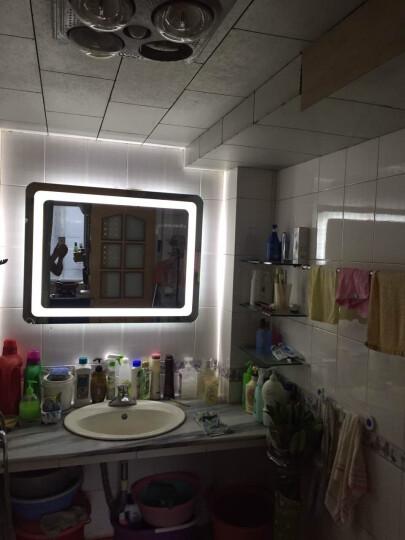 壁挂浴室镜子led灯镜智能高清卫浴镜YL012无框卫生间防雾镜 正白+防雾+竖 70*90cm 晒单图