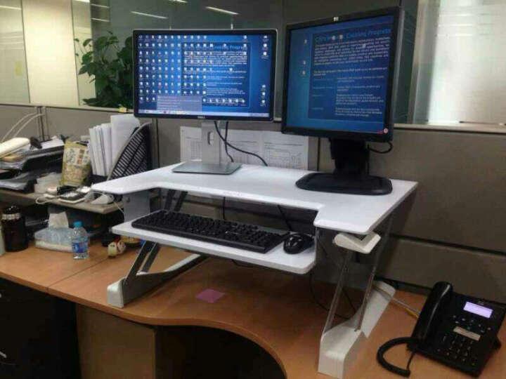 爱格升(ERGOTRON)33-406-085站立式升降台办公书桌笔记本折叠增高架台式电脑显示器桌子 亮白(33-406-062) 晒单图