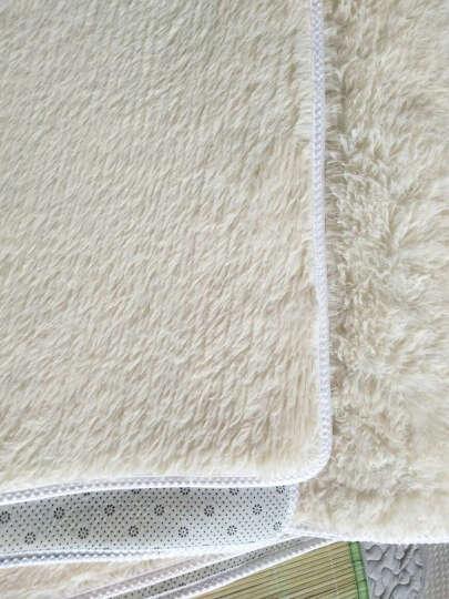 梓晨 简约现代客厅茶几地毯丝毛绒卧室床边满铺地毯 小资米黄(厚度3cm) 200CMx300CM 晒单图