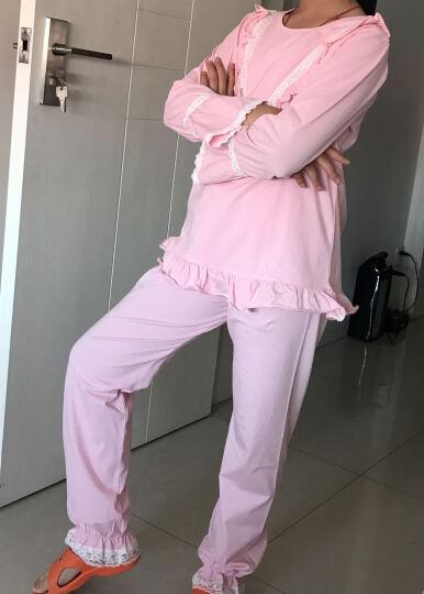 女童睡衣夏季新品纯棉短袖公主儿童睡裙亲子装母女家居服 8191长袖套装 肉粉色 150cm(建议身高143-152cm) 晒单图