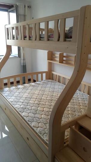 大梵林 儿童床 松木高低床子母床 实木双层床上下铺床 母子床带梯柜 组合床木架子床 直梯双层床+床底抽屉 1500*2000 晒单图