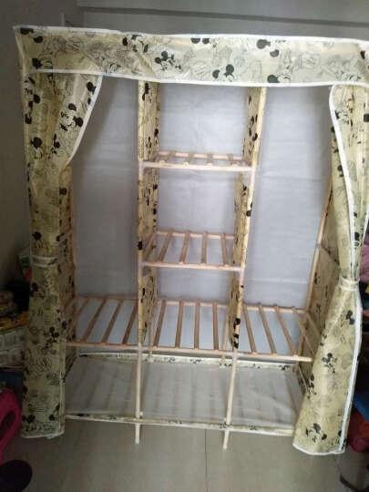 名创优品(MINGCHUANGUP) 名创优品 实木 布衣柜加固加厚大号组合收纳衣柜简易 紫荆花 晒单图