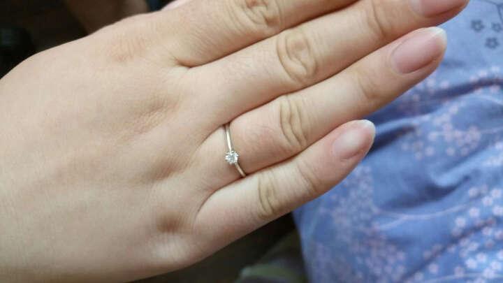 恒久之星 天使之吻 珠宝 钻戒女款 订婚戒指/求婚结婚女戒 裸钻定制 正品 (现货)PT950铂金43分 DE 晒单图