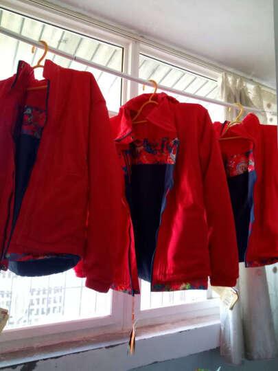 CAMKIDS 垦牧儿童冲锋衣男童秋冬装印花保暖外套户外防风防水抓绒保暖两件套 品红 160 晒单图