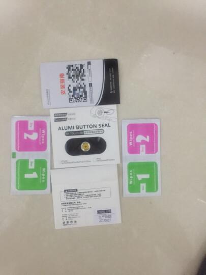 HKQTQ iphone6plus按键贴苹果7指纹识别i6手机5S金属home键贴6S膜 小胡子【拍三免一,请拍三件】 晒单图