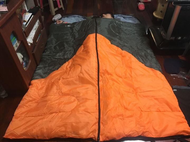 飞拓 睡袋儿童室内睡袋信封式成人单人露营四季可拼接午休加厚轻型情侣野营户外保暖睡袋吊床 桔拼灰套装1.8KG睡袋 晒单图