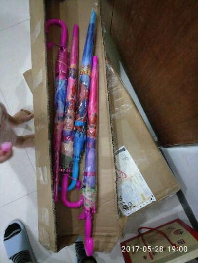 促销卡通晴雨伞儿童遮阳伞男女小孩公主直柄伞学生LOGO 杏色 花边杯套BX彩虹 晒单图