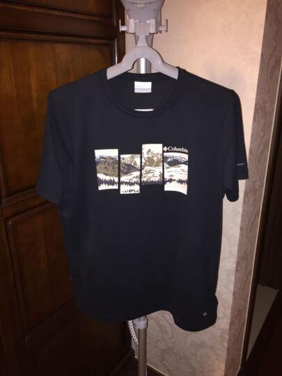Columbia 哥伦比亚户外男款印花轻薄吸湿短袖T恤PM3698 010 L 晒单图