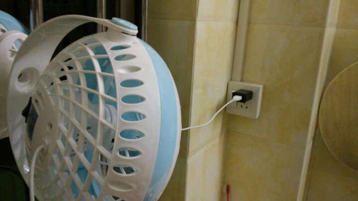 得力(deli) 3683 小巧USB办公室桌面风扇/小风扇/电风扇/学生宿舍风扇 台夹两用 蓝色 晒单图