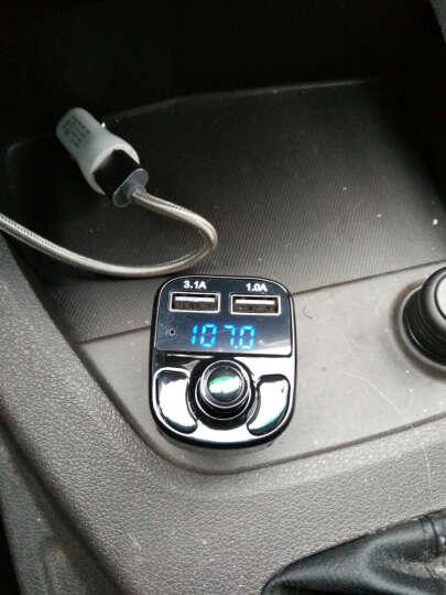 车载MP3播放器汽车音乐U盘蓝牙免提电话接收器FM发射器 双USB充电器1 黑色现代车载MP3 晒单图