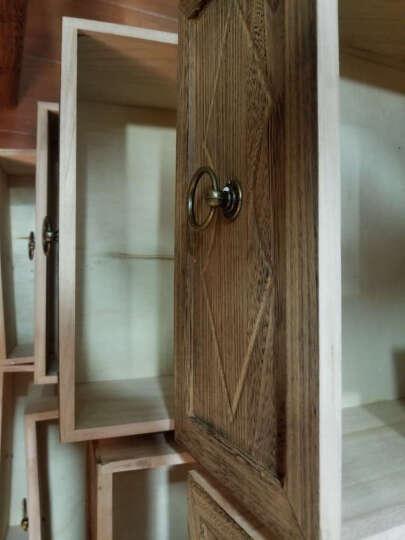 鲁明 床头柜 简约中式复古实木客厅柜 欧式收纳柜藤编储藏柜卧室多用斗柜田园墙角柜卧室置物柜 棕色八斗 晒单图