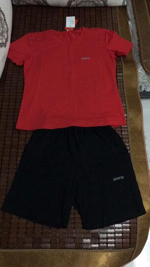 SBVA 休闲运动套装男女情侣长款大码套卫衣棉质跑步服两件套 白色-男款 2XL 晒单图