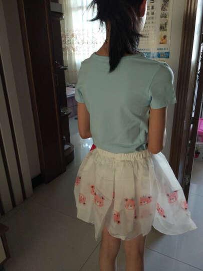 笛莎 DEESHA 女童套装 可爱小熊韩国纱半身裙裤套装711721902浅兰160 晒单图