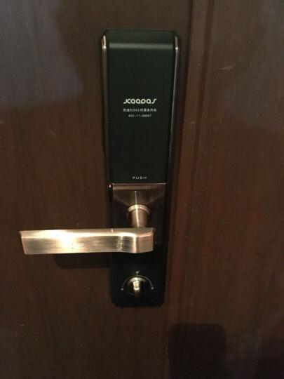 凯迪仕(KAADAS) 指纹锁 5005 智能锁密码锁 家用防盗门锁 电子密码锁 红古铜 晒单图