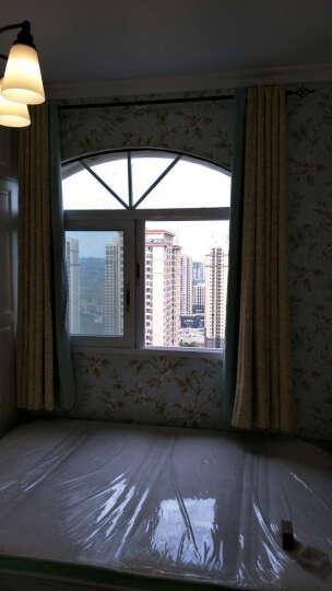 BYSHJ 简约现代新中式拼接复古卧室客厅窗帘定制新品 布帘 蓝色黄色图案拼接 宽3.5米高2.7米挂钩式一片 晒单图