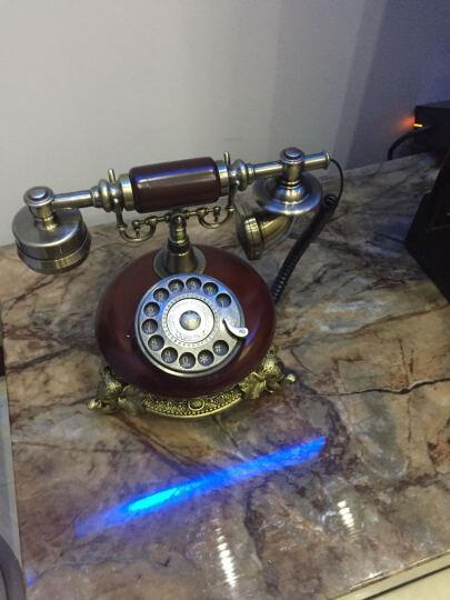 悦旗 仿古电话机欧式老式复古电话机时尚创意家用座机中式固定电话机家居装饰品卧室客厅书房座机古董摆件 款式七拨号 晒单图