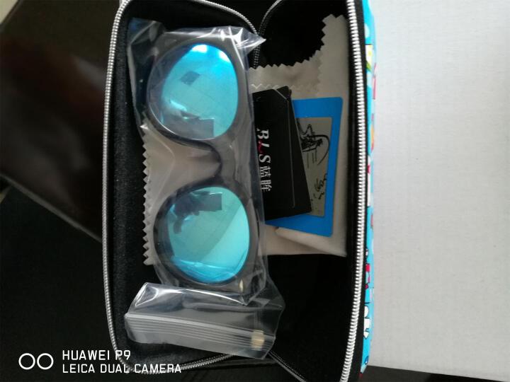 蓝眸太阳镜女款墨镜2016新款韩国明星潮大框反光防紫外线偏光镜个性眼镜眼睛 亲子套餐黑框冰蓝片+送礼品包装 晒单图
