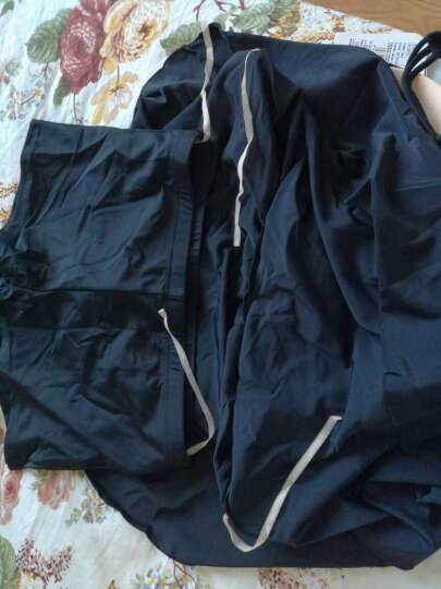 李宁(LI-NING) 泳衣 女遮肚显瘦分体裙式泳装 女士修身保守大码平角游泳衣 018气质花卉蓝 L(157-165cm/49-56kg) 晒单图