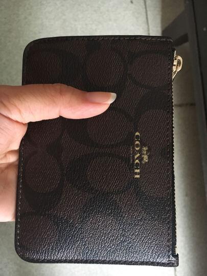 COACH 蔻驰 女款深咖啡色PVC短款钥匙包零钱包 F63923 IMAA8 (63923 IMAA8) 晒单图