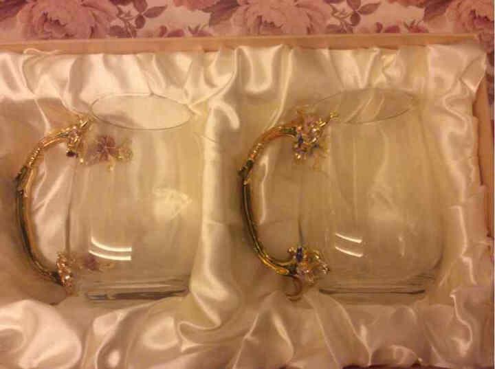 罗比罗丹花样年华创意水杯情侣对杯珐琅彩工艺品玻璃杯子欧式咖啡杯器皿礼盒装生日结婚礼物 大号对杯 晒单图