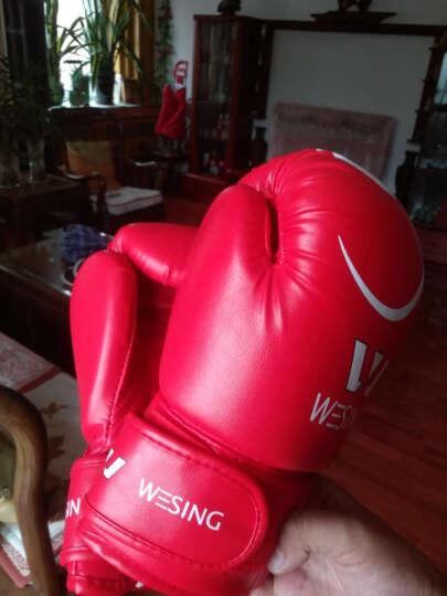 九日山专业成人儿童拳击手套 散打拳套 自由搏击拳套仿皮训练泰拳拳套普及型打沙包沙袋手套 成人-红色白点(一副2只装) 单码 晒单图
