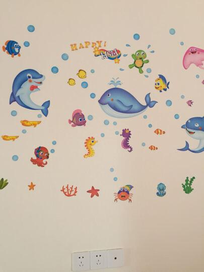 可爱动物卡通墙贴儿童卧室墙壁贴画宝宝婴儿房间装饰墙上贴纸墙画 泡泡鱼 大 晒单图