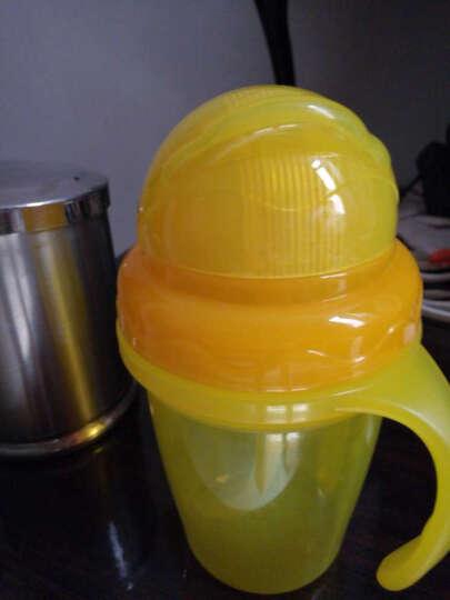 摩尔西夫吸管杯宝宝双层隔热学饮杯防烫水杯婴幼儿童带手柄防漏水杯 柠檬黄 晒单图