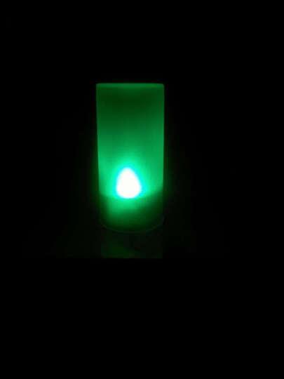 沤迈宝 创意小夜灯一吹就亮再吹就灭的七彩LED电子声控蜡烛灯带杯浪漫小夜灯 晒单图
