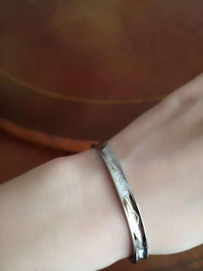 蒂芙尼蒂凡尼 Tiffany 925银刻1837年份窄型手镯手环 情人节生日礼物 GRP02408 大号7.5英寸 晒单图