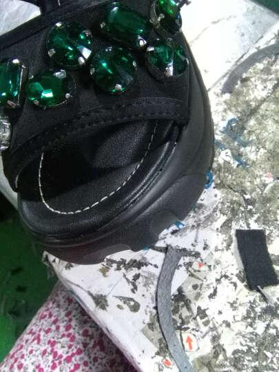vis kitty新品 时尚潮牌 专柜正品 大牌工艺 厚底休闲凉鞋女 绿钻 39 晒单图