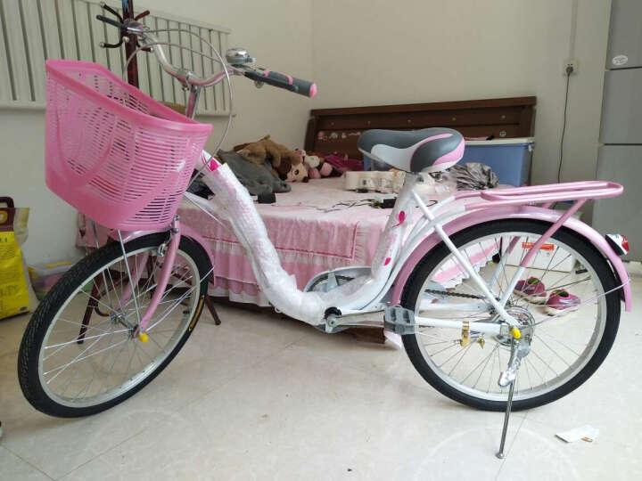上海凤凰女士自行车20寸女士成人ZXC轻便休闲通勤单车梦里水乡款 粉红色 20寸适合身高130cm-165cm 晒单图