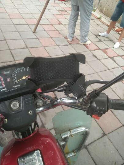 一口米摩托车手机支架骑行装备电动车配件电动车手机支架踏板车手机导航支架电动车后视镜款四爪手机支架 蓝色 晒单图