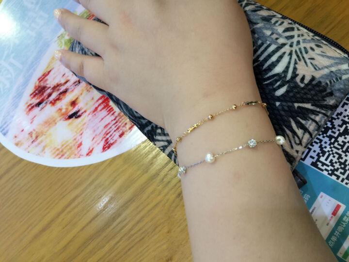吾昔(WOOTHY)18K金手链 三色彩金 宽版时尚编织手链 SL0050 晒单图