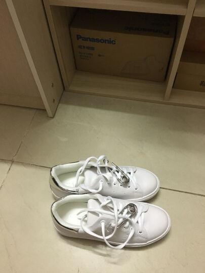 Daphne/达芙妮新款圆头小白鞋潮流单鞋休闲鞋1516404040 银色 35 晒单图
