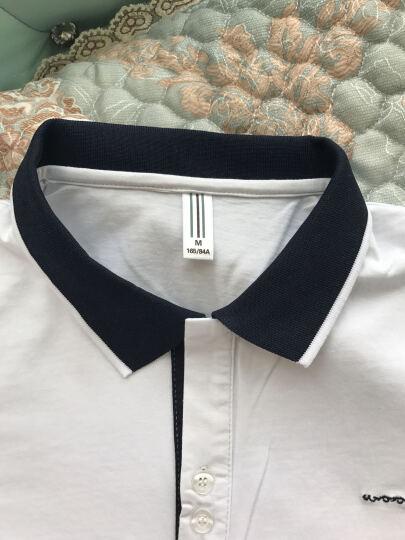 WUJIXIAN T恤男2018韩版修身男士翻领POLO衫休闲棉短袖T恤男 6013白色 M 晒单图