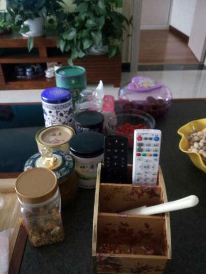 怡诺 遥控器收纳盒 桌面手机小物件收纳盒整理盒 清新玫瑰 晒单图