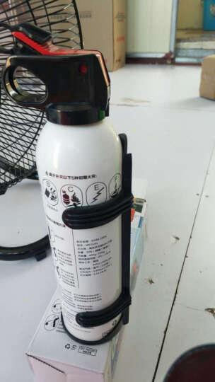 路趣 送固定架汽车用车载灭火器小车家用干粉消防器材FlameFighter 520g白色 晒单图