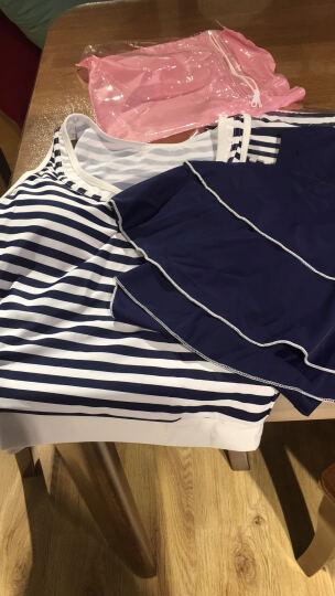 昊之浪(haozhilang) 昊之浪 泳衣女保守分体三件套游泳衣学生显瘦裙式 8753玫红 XL 晒单图